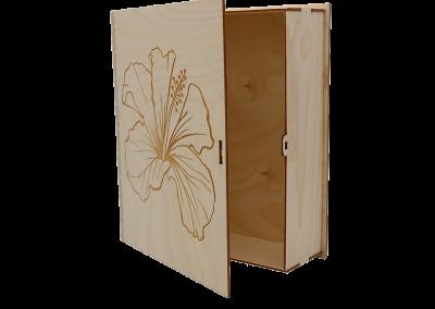 Graveren hout - houten boek - huwelijk - doop